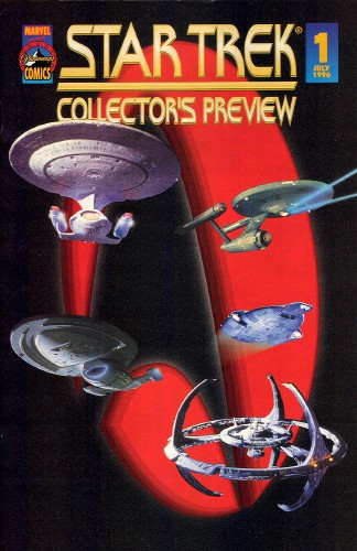 Previews of Marvel Paramount Star Trek comics 1996-1997