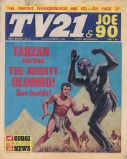 TV21 & Joe 90 #6, 1 Nov 1969