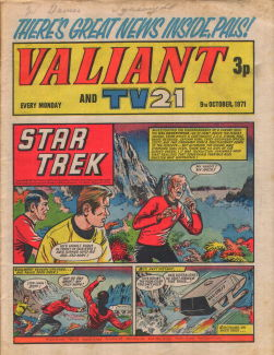 Valiant and TV21, 9 Oct 1971